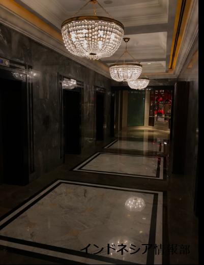 グランドハイアットのエレベーターの写真