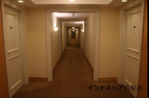 絨毯の廊下の写真