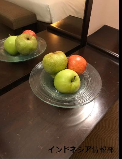 置いてあったリンゴの写真
