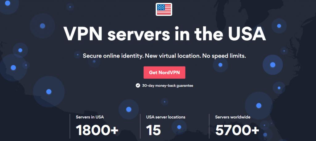アメリカのVPNサーバーをあらわした画像